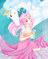 Chibiusa and Helios by Stacy-L-Gage