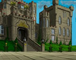 Lion Castle perspective practice by JOVictory