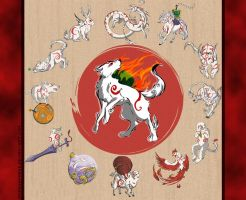 Okami Brush Gods by Dygee