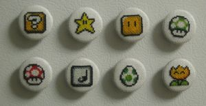 Super Mario World Magnets by Craftigurumi