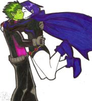 Beastboy-Raven by IronicChoice
