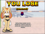 Sonic Volley - 'Game Over' screen by JEMCIV