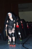 Church of Sk8in Roller Derby Nun by dislexicpalindrome