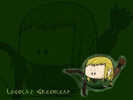 Chibi Legolas Wallpaper by jmae