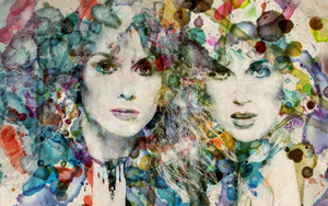 Ann and Nancy Watercolor by nikayla-rose