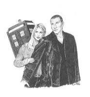 Dr Who Pencil sketch by Saxon-wolf23