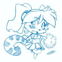 Cheerleader Tiggs by ChaloDillo