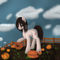 Pony in Autumn ~Commission~ by Rowscar