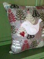 Peace and Love Dove Christmas Pillow by msmegas