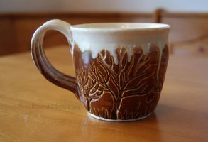 Ceramic Whipped Cream Tree Themed Mug by ashynekosan