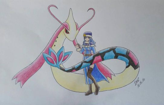 Milotic and Juvia by Darica89