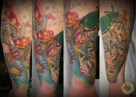 Freaky armsleeve tattoo 2. ses by 2Face-Tattoo