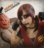 Happy Halloween - Claire Redfield vampire by VickyxRedfield