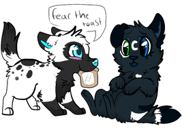 AT fear the toast by P0CKYY