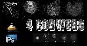 4 Cobweb Brushes set #1 by HJR-Designs