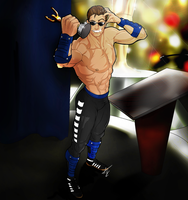 Johnny Cage by Scribbletati