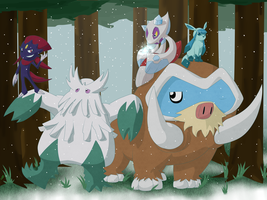 The Sinnoh Ice Types by TonyFicticium