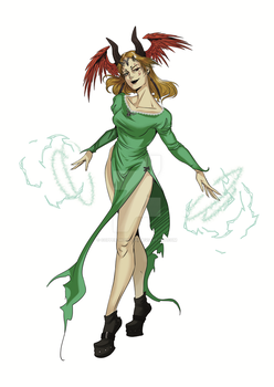 Cassiope, Red Queen of Thunder by Copper-Mouflon