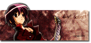 Nagato playing the guitar by arisuhige