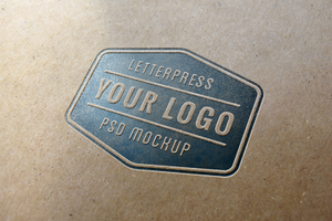 Letterpress Logo MockUp (Free PSD) by GraphicBurger