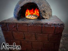 Pizza in Stone Oven by Aimka
