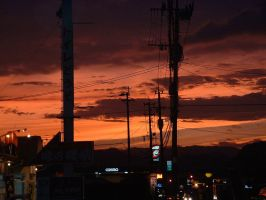 Small town sunset by calger459