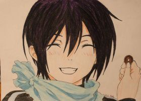 Yato and his 5 yen_Noragami by martha1101