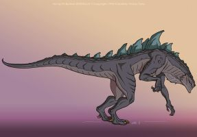 Godzilla: Side View by filbarlow