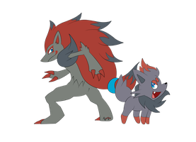 Gift - Zorua and Zoroark by AR-ameth
