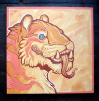 Tiger smile painting by missmonster