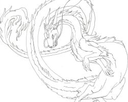 Eastern Dragon for coloring by Riverspirit86