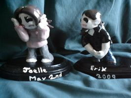 Chibi Style cake toppers by Whitey594