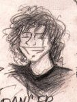 Ray Toro is smiling by skylight-AR
