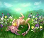 Espeon Commission by MaeMusicMelody