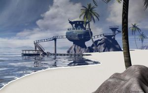 Watchtower Beach by curious3d