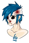 i love hurting 2D by valokilljoy