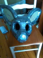 Fursuit head in progress! by ChoppaTheFurry