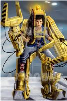 Ripley Powerloader Aliens - by AJ Moore by GudFit