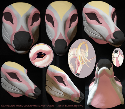 Lunacorn's basic color/markings ref (on DVC blank) by swandog
