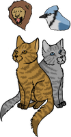 Lionblaze and Jayfeather by Nightshine156