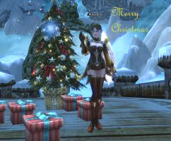 Lineage 2 Christmas Card by Brownfinger