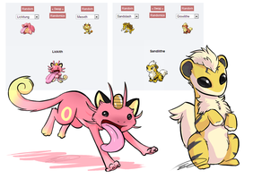 Some Pokemon Fusions by Feline-Basilisk