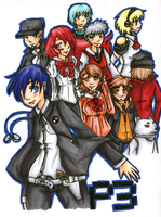 Persona 3 by HappehCakes