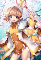 Card Captor Sakura with KEROBER by lucidsky
