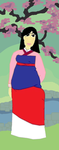 Plus Size Princess Mulan by ColdHeartedCupid