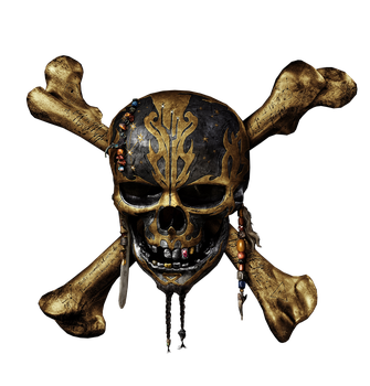 Pirates of the Caribbean 5 skull logo png by mintmovi3