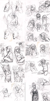 Super Massive Sketch Dump by MissThunderkin