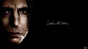 Harry Potter Wallpaper : Snape Quote! v2 by TheLadyAvatar