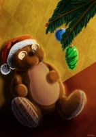 Teddy loves Christmas by Crida