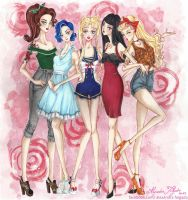 Sailor Moon girls by AlexandraFolgado